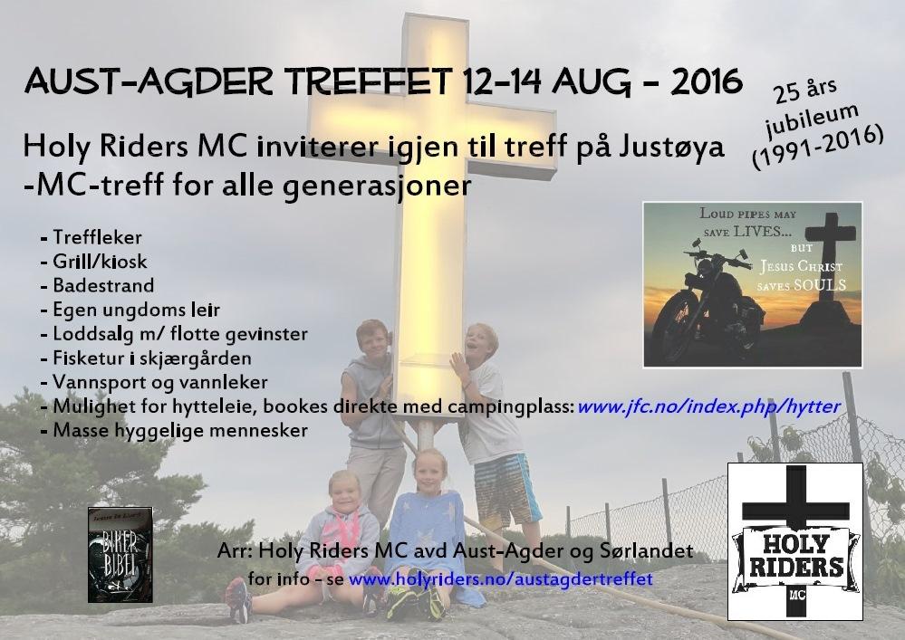 Aust-Agder treffet 7-9 aug 2016