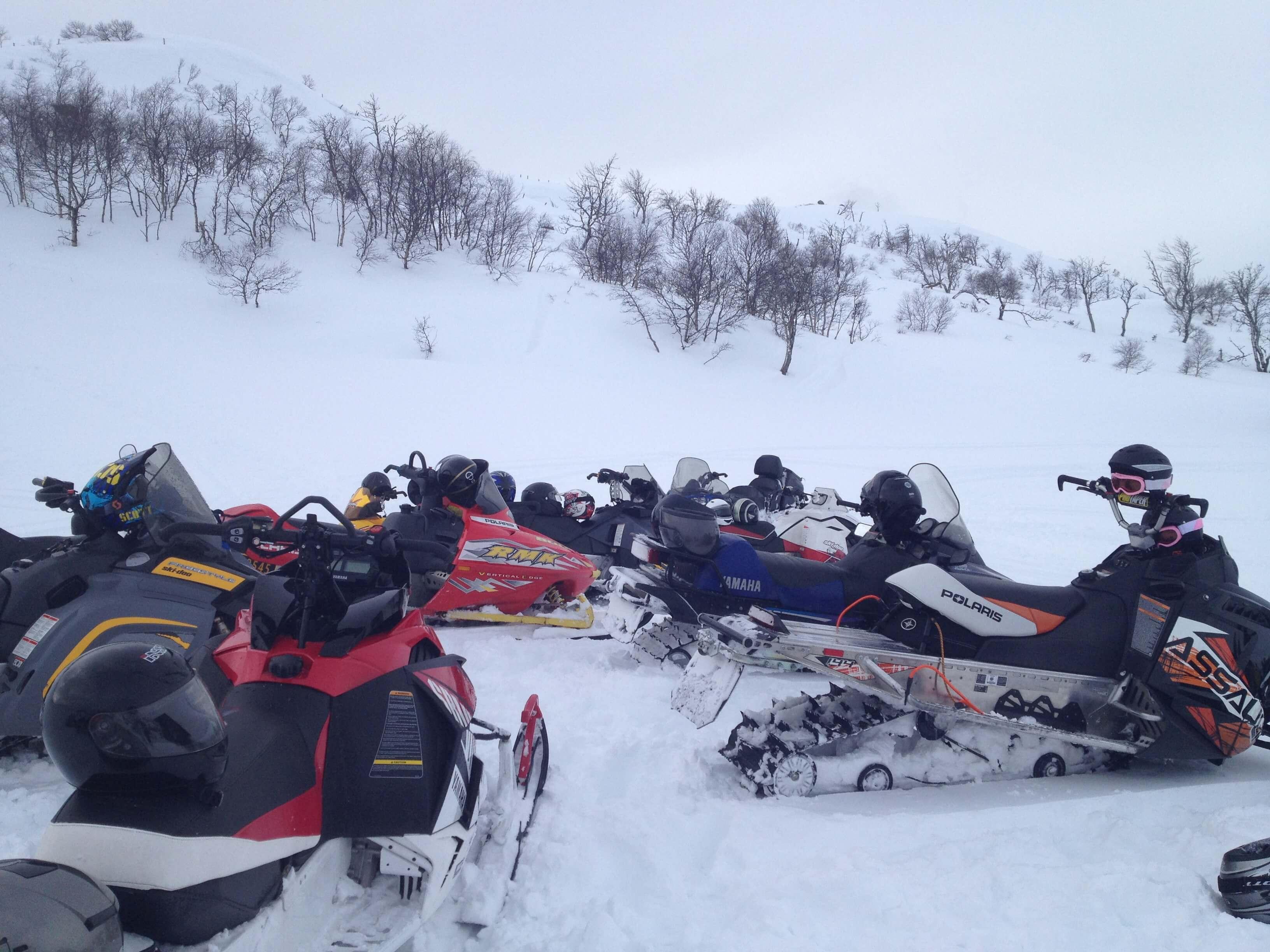 Snøscooter tur til Hekkfjellet 05. mars 2016