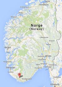 Kart Sør Norge